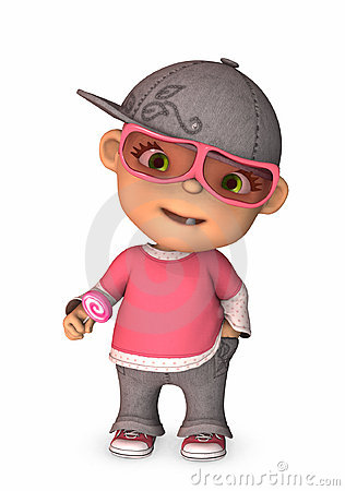 Cool dressed baby 3d