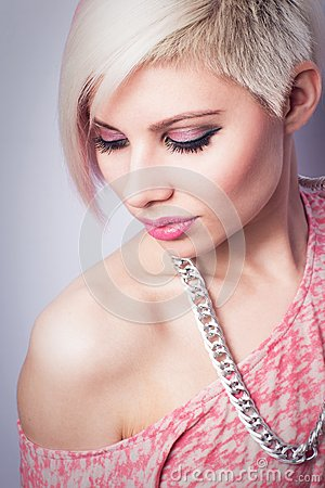 Free Cool Fashion Girl In Pink Royalty Free Stock Photography - 30870617