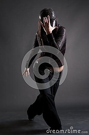 Cool girl dancing