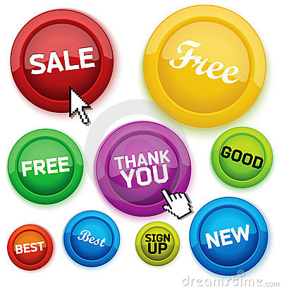 Cool glossy buttons for your business website.