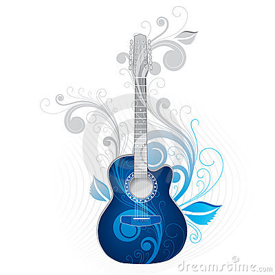 Free Cool Guitar Illustration Royalty Free Stock Photography - 5262437