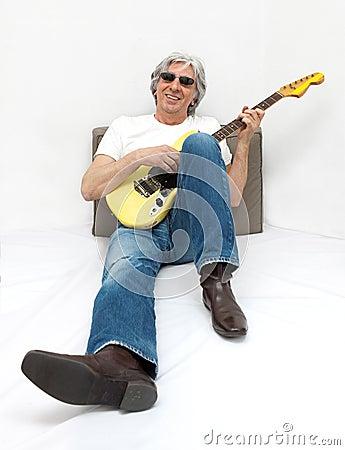Free Cool Guitarist. Royalty Free Stock Photos - 9021328