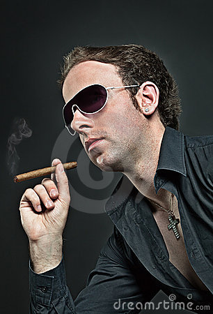 Cool guy with cigar
