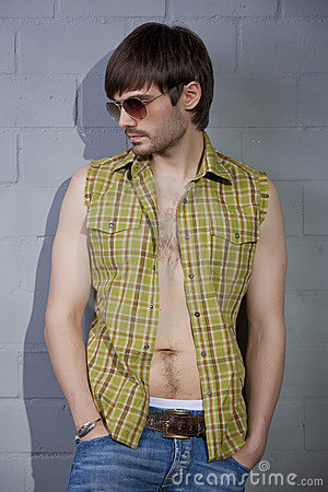 Cool guy with open shirt