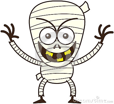 Free Cool Halloween Mummy Smiling Mischievously Royalty Free Stock Photography - 45348397