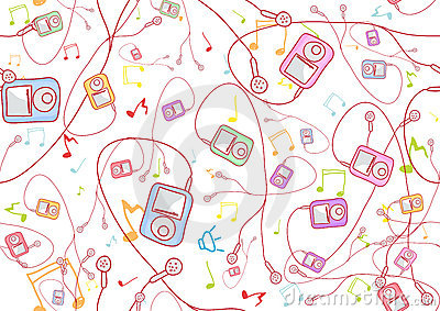 Cool hand-drawn mp3 players