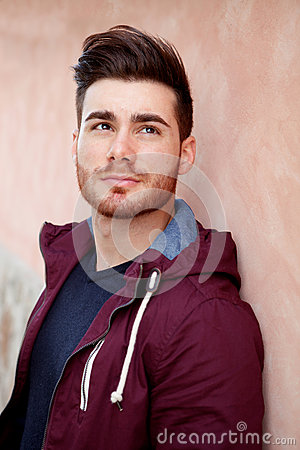 Free Cool Handsome Guy Thinking Royalty Free Stock Photo - 52394135
