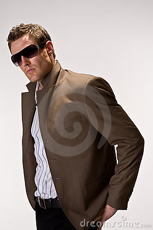 Cool hunk with sunglasses