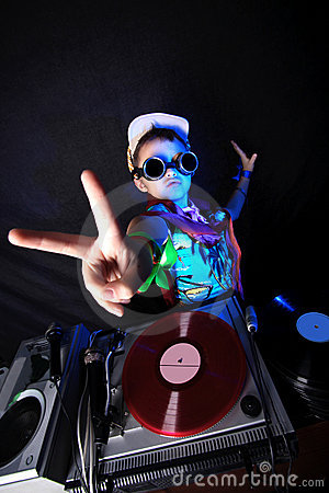Free Cool Kid DJ In Action Stock Images - 10225364