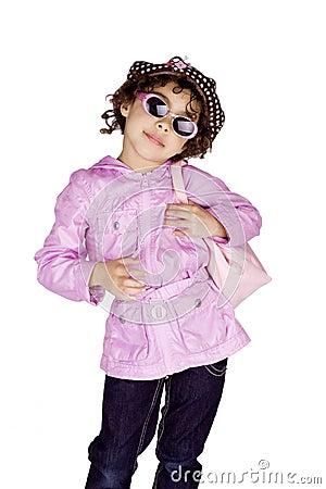 Cool little fashion girl