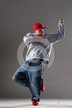 Cool man dancing