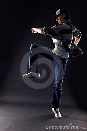 Cool man modern dancer