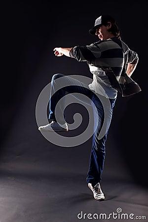 Cool man modern dancer