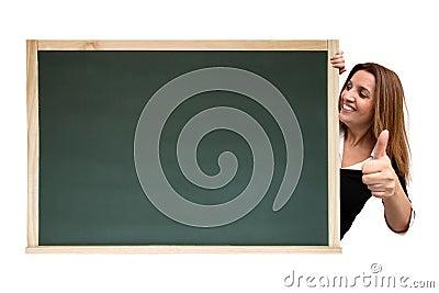 Cool message on chalkboard