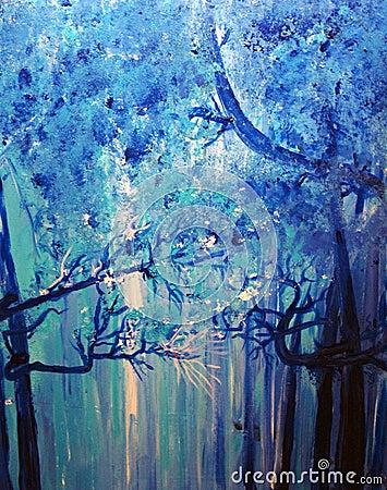 Cool Misty Woods