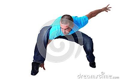 Cool modern man dancer