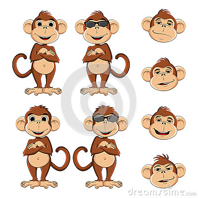 Cool monkey Vector Illustration