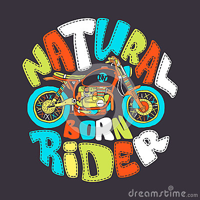 Free Cool Motorcycle Print Design, Vector Illustration Stock Photo - 94327530