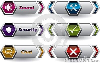 Cool new web button set