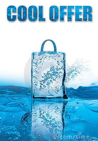 Free Cool Offer For Winter Sale With Icy Effect Royalty Free Stock Photo - 7642065