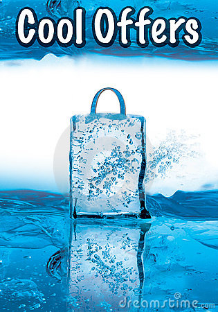 Free Cool Offers For Winter Sale With Icy Effect Stock Image - 7641881