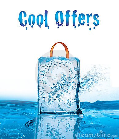 Free Cool Offers For Winter Sale With Icy Effect Stock Photos - 7650963