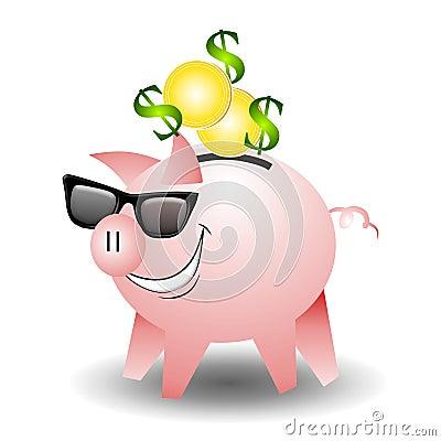 Cool Piggbank Wearing Sunglasses
