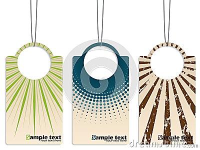 Cool retro design hanging label set