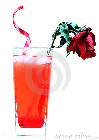 Cool rose drink
