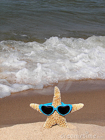 starfish wearing heart sunglasses