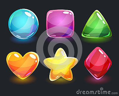 Cool Shiny Glossy Colorful Shapes Stock Illustration