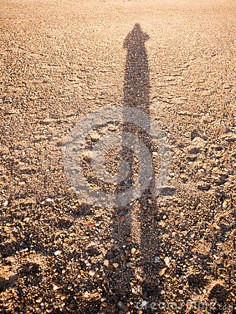 Free Cool Silhouette Reflection Shadow Shade In Sand Beach Cobble Tex Stock Photography - 104372482