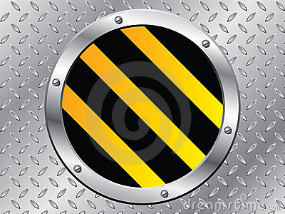Cool Steel Plate With Striped Cap Stock Photography - Image: 15445112