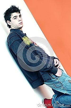 Cool Teenage Boy Hanging Out