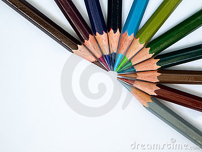 Cool tone color pencil