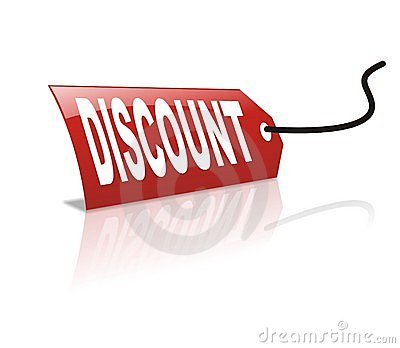 Cool vector discount icon tag