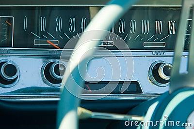 Details of vintage car