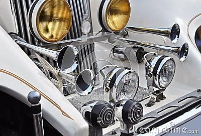 Cool white oldtimer car