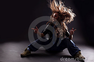 Cool woman dancer