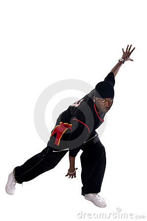 Cool young basketball player on white background