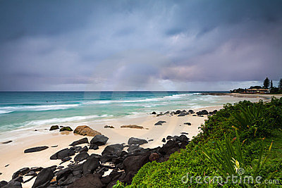 Coolangatta beach at dawn