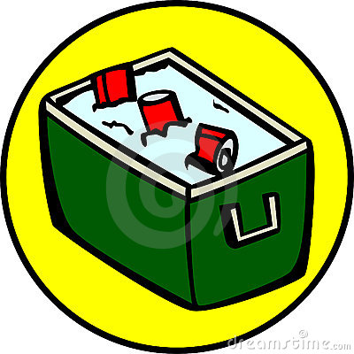 cooler with drinks, cokes, sodas or beer. Vector