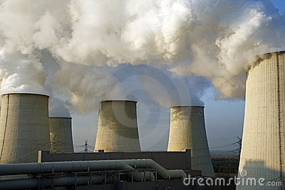 Coolers Of A Power Station Stock Image - Image: 22065061