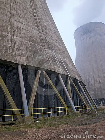 Cooling tower in a power station