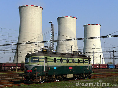Cooling towers and locomotive