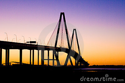 Cooper River Bridge (sunset)