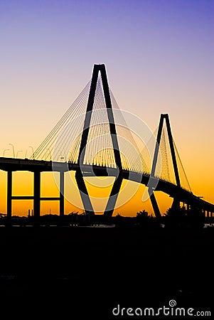 Cooper River Bridge (sunset)