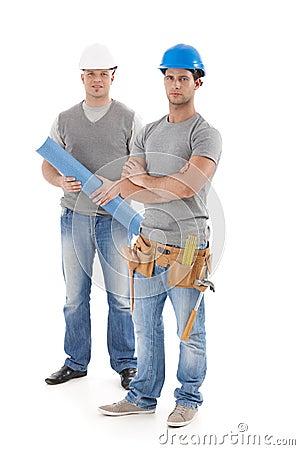 Coordenador e trabalhador manual