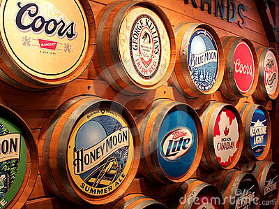 Coors beer brands Editorial Stock Photo
