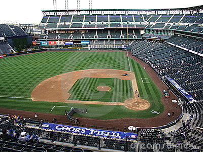 Coors Field - Colorado Rockies Editorial Stock Photo